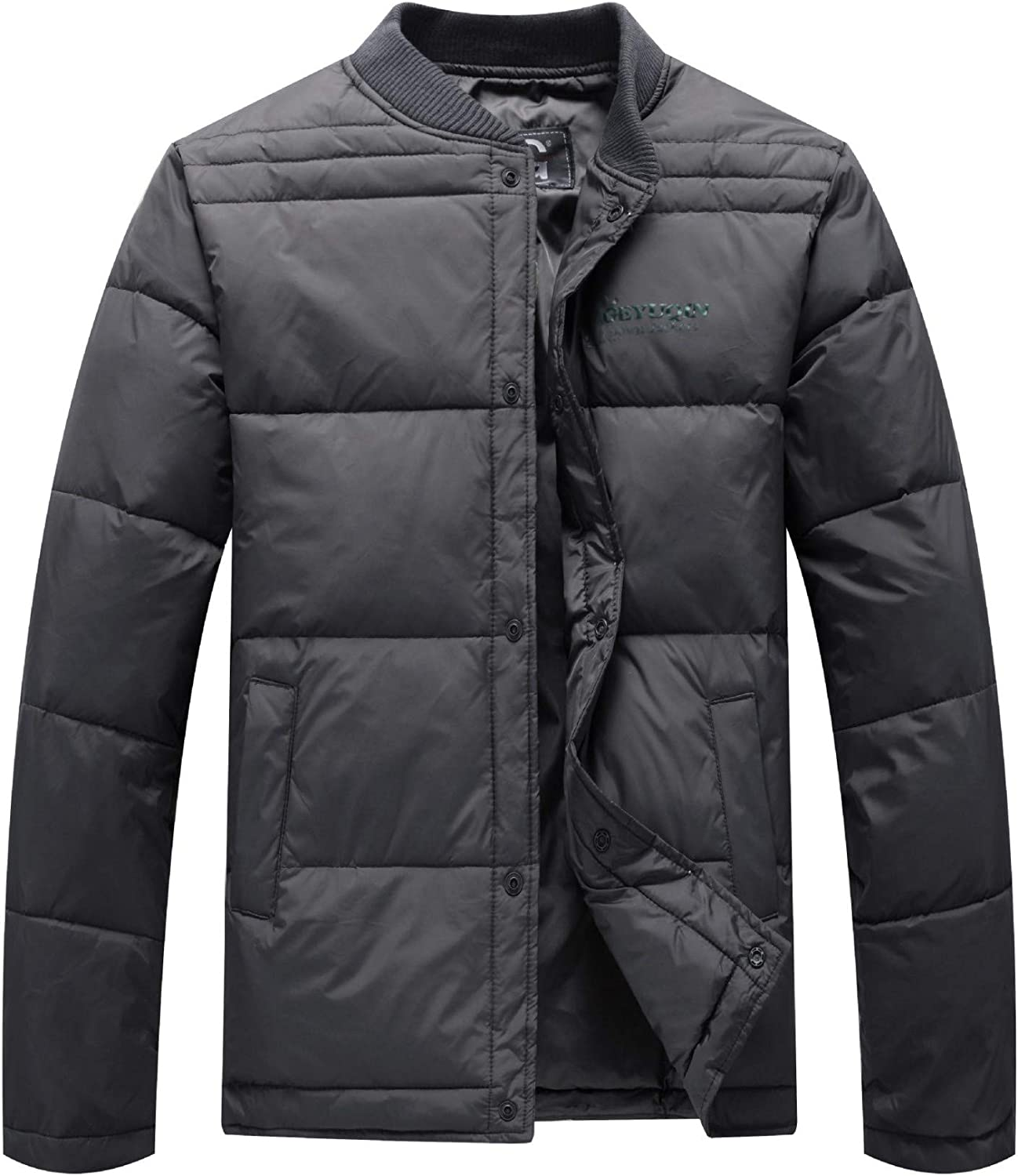 Men's Winter Jacket Ultra Light Polyester Stand Collar Side Pockets Outdoor Sports Winter Down Jackets