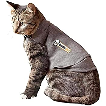 Thundershirt Classic Cat Anxiety Jacket | Vet Recommended Calming Solution Vest for Fireworks, Thunder, Travel, Separation (Heather Gray)