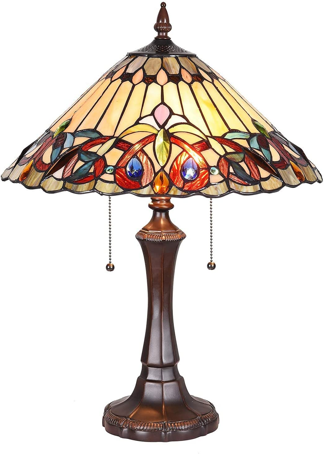 """Maxxmore Super beauty product Limited Special Price restock quality top Tiffany Table Lamp 22"""" Style Lam Victoria Bedside"""
