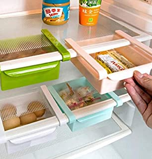 Bluelover Frigo de cuisine en plastique Réfrigérateur Congélateur Holder Support de rangement étagère de cuisine Organisat...