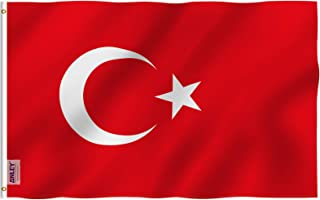 ANLEY Fly Breeze 3x5 Foot Turkey Flag - Vivid Color and UV Fade Resistant - Canvas Header and Double Stitched - Turkish Fl...