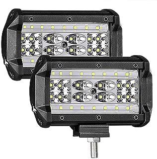 LED Pods,Led Boat Headlights 5'' 168W QUAD Row LED Light Bar OSRAM Spot Flood Combo Beam Off road LED Cubes Work Light for Trucks Jeep ATV UTV SUV Boat Marine, 2PACKS