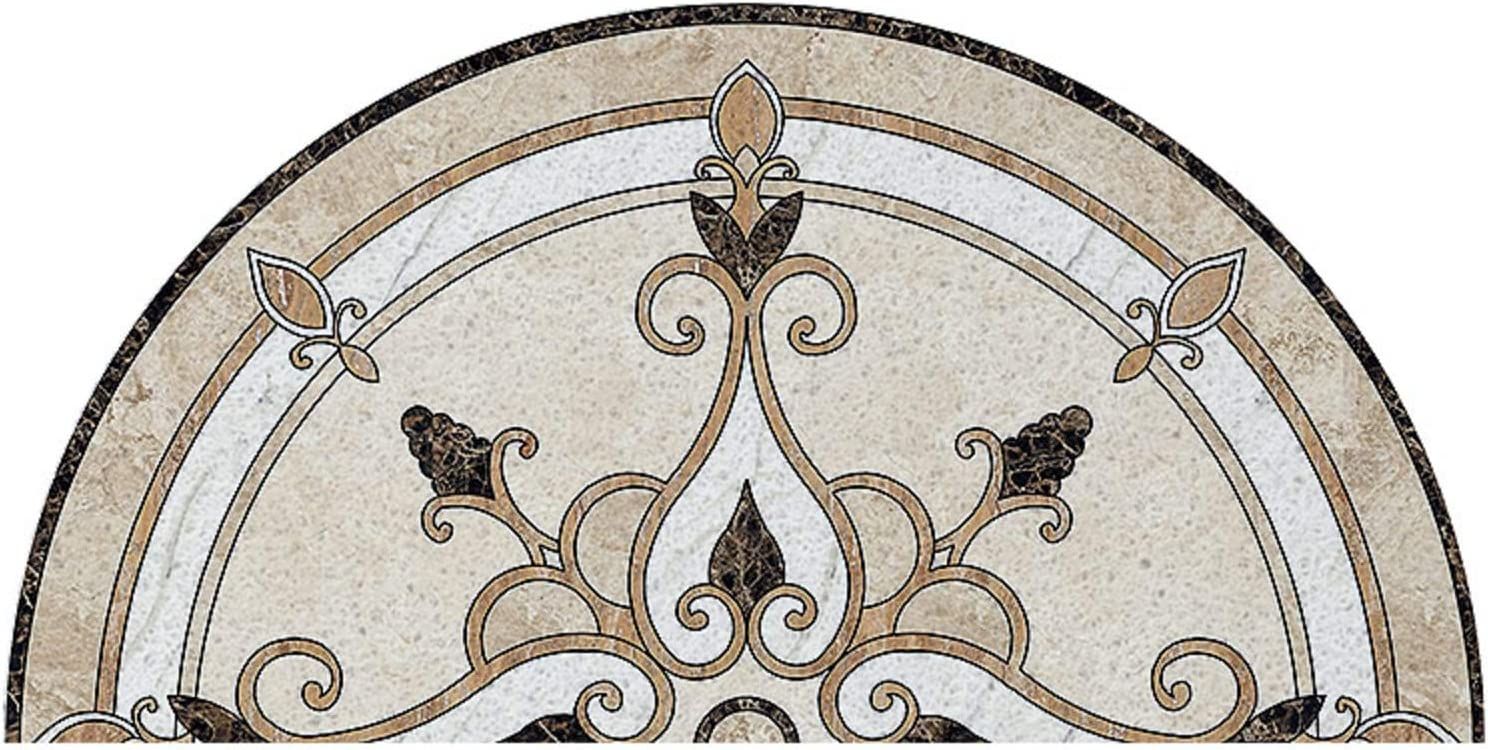European Semicircle Doormat Retro High order Vintage Gifts Welcome Non Mat Flower