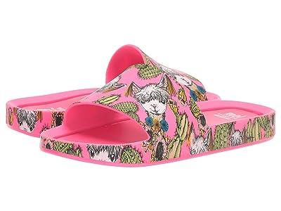 Mini Melissa Mel Beach Slide 3B II (Little Kid) (Magenta) Girls Shoes