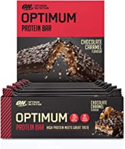 Optimum Nutrition ON Protein Bar Barritas Proteínas con Whey Protein Isolate, Dulces Altas en Proteína y Low Carb, Chocolate y Caramelo, 10 Barras (10 x 60 gr)