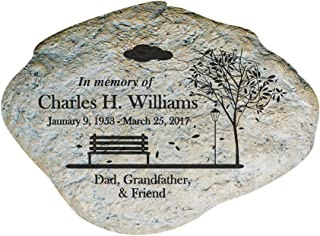 engraved memorial benches