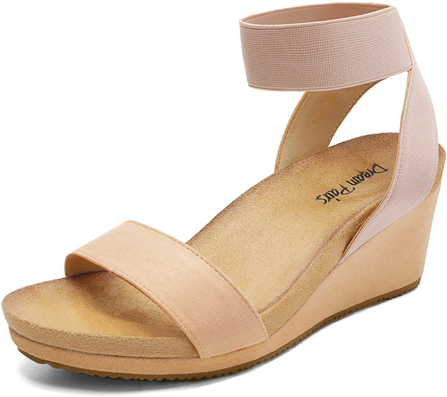 DREAM New arrival PAIRS Women's Elastica Ankle Toe 35% OFF Strap Wedge Platform Open