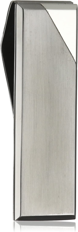 Colibri Jewelry Equinox  Satin Gunmetal Finished Steel Polished Corner Money Clip