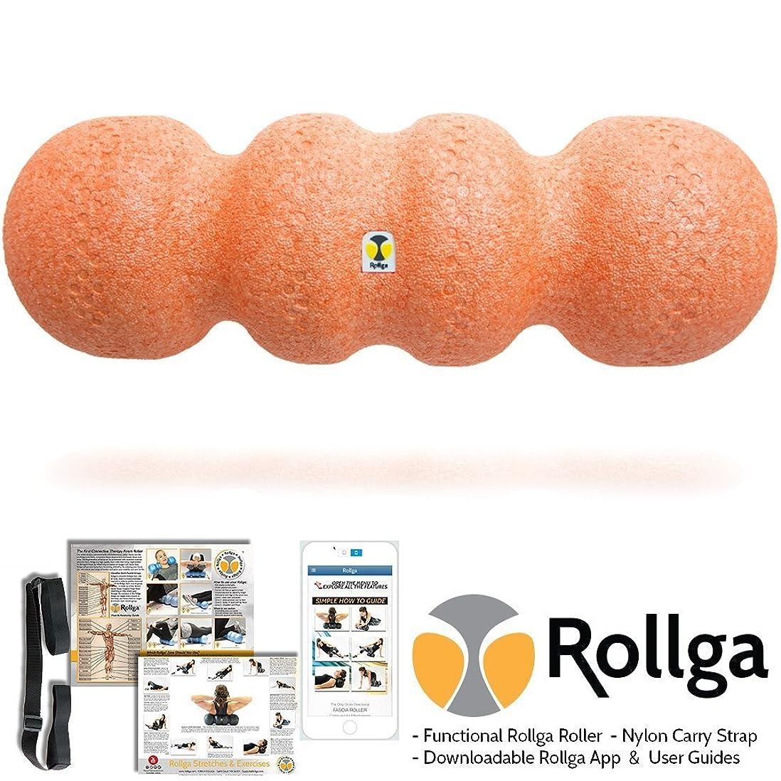 センターオートマトン独立してRollga Sunrise 46cm Orange Foam Roller High Density Trigger Point Roller and Self Body Massager Muscle Pain Back Therapy Tool