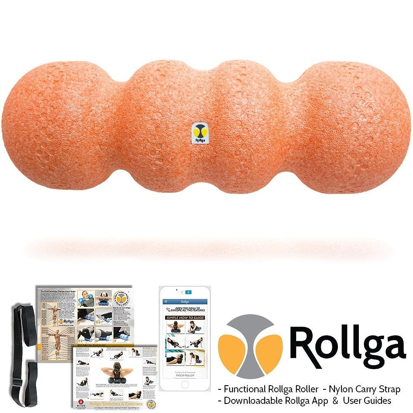 ライオネルグリーンストリート稚魚広告するRollga Sunrise 46cm Orange Foam Roller High Density Trigger Point Roller and Self Body Massager Muscle Pain Back Therapy Tool