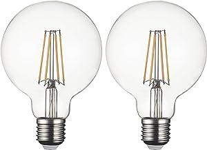 SD LUX LED Light Bulb Base E27 Globe G95, 8 W 806 Lumen Filament Lamps, Replaces 75 W Filament Bulb, 2700 K Warm White Bul...