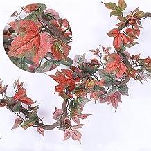 180 cm kunststof plastic planten klimop esdoorn blad garland boom nep herfst bladeren rotan hangende wijnstokken voor brui...