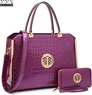 MARCO collection Fashion Designer Women Satchel Top handle Handbag with Free Wallet Set for Women