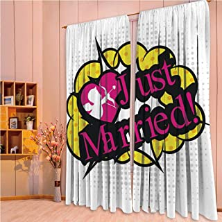 ZHICASSIESOPHIER Print Kids Curtains,Polyester Curtains Panels for Bedroom,Living Room,Style Design Cupid Bow Arrow Love in The Air Just 108Wx84L Inch