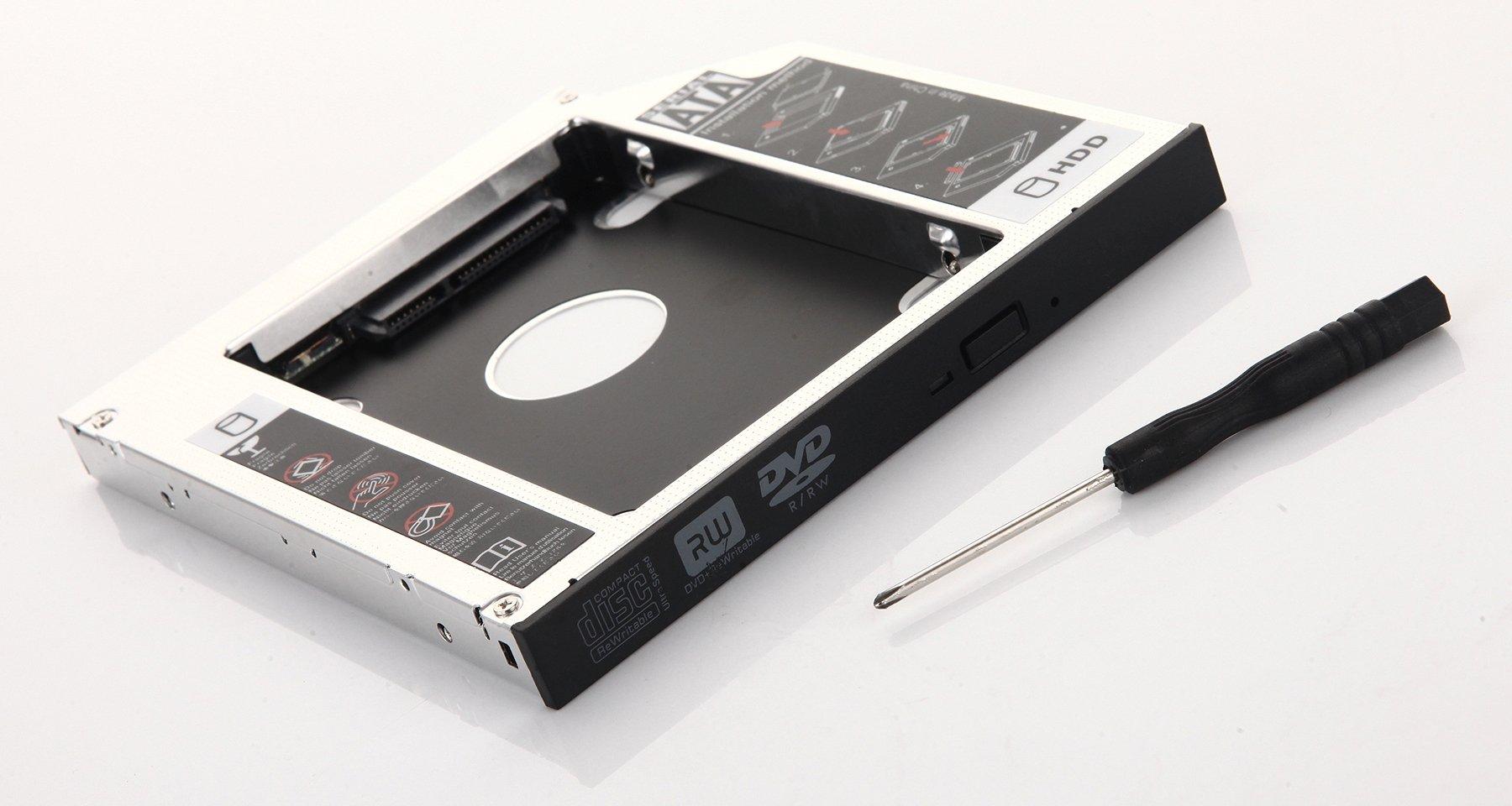 dy-tech 2 nd óptico disco duro HD SSD Caddy Adaptador para Asus ...