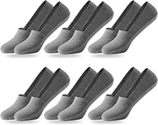 MOCOCITO 6 Pairs No Show Socks Mens Invisible Running socks Non Slip Low Cut Cotton Socks Liners Casual Socks for Loafers ...