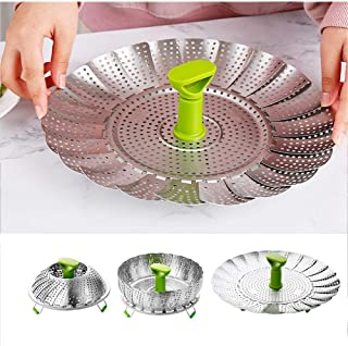 EEDAN-Stainless Steel Vegetable/Veggie Steamer Basket For Instant Cooking Pot With Handle And Legs, Foldable Food Containe...