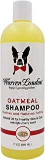 Warren London Oatmeal Dog Shampoo - Soothes Itchy & Sensitive Skin with Vitamins, Oats, Botanical Oils - 17 oz & 1 Gallon