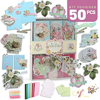 PICKME Greeting Card Making Kit Pack - DIY Handmade Greeting Card Kits for Kids & Adults, Beautiful Floral Greeting Cards for Birthday, Christmas, Anniversary, Mother's Day, Thanksgiving Day