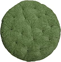 スイデコ もちもち芝生クッションラグ (110cm円形) グリーン