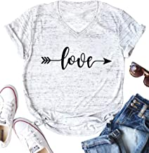 JINTING Cute Graphic Tee Shirts for Women Teen Girls Junior Short Sleeve Letter Print Casual Tee Shirts Top with Sayings
