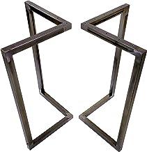 CHYRKA® V-tafelonderstel industriële zwarte tafelonderstellen 1 paar (2 stuks) MTSV onderstel frame tafel onderstel (hoogt...