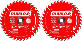 Freud D0436X Diablo 4-3/8-Inch 36 Tooth ATB Saw Blade 20-Millimeter Arbor & 3/8-Inch Reducer Bushing (2 Pack)