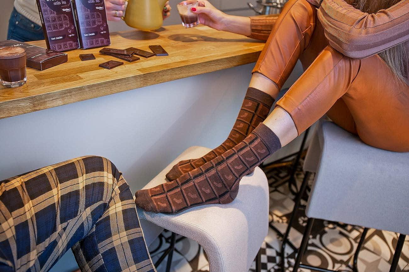 Rainbow Socks Femme Homme Chaussettes Fantaisie Barre de Chocolat 1 Pair