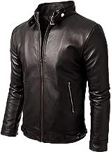 SKY LINE OCEAN Men's Genuine Leather Jacket Cowhide/Lambskin Motorbike Casual Jacket