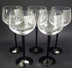 Antigo Cj 5 Tacas Vinho Em Cristal Preto Hering 1241r Rrdeco Cor:Preto (Preto)