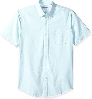 Men's Slim-Fit Short-Sleeve Pocket Oxford Shirt