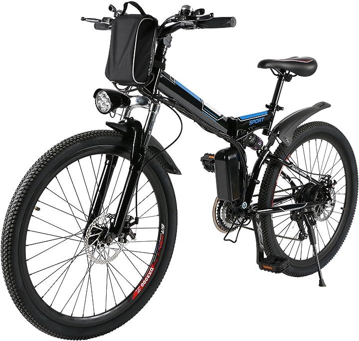 Bicicletta da montagna elettrica pieghevole con ruote di 26 pollici batteria litio di grande capacità 36v 250w DE01+ONUA004962