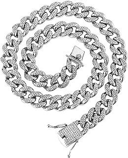 داني كوبان سلسلة متصلة للرجال قلادة كوبية سلسلة متصلة مثلجة سلسلة متصلة بالماس الكوبي