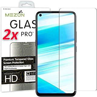 [2 Pack] MEZON Crystal Clear Premium 9H HD Tempered Glass Screen Protector for Realme 6 – Case Friendly, Shock Absorption ...