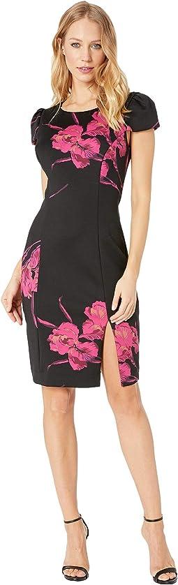 Floral Scuba Midi Dress