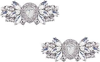 Fashion Decorative Rhinestones Shoes Clutch Dress Hat Shoe Clips 2 Pcs