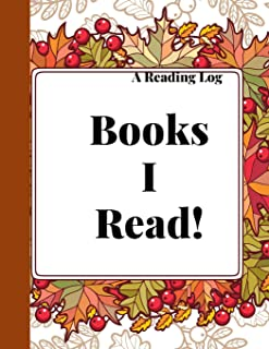 Reading log: An Autumn leaves Themed Cute Reading Journal and Organizer for Book Lovers
