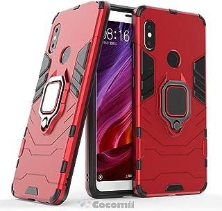 Cocomii Black Panther Armor Xiaomi Redmi Note 5/Note 5 Pro Funda Nuevo [Robusto] Anillo Soporte [Funciona con El Montaje De Coche Magnético] Case Carcasa for Xiaomi Redmi Note 5/Note 5 Pro (B.Red)