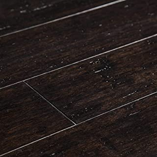 Yanchi 12mm Wide-Plank Distressed T&G Solid Strand Woven Bamboo Flooring-Distressed Sable / 5 1/8