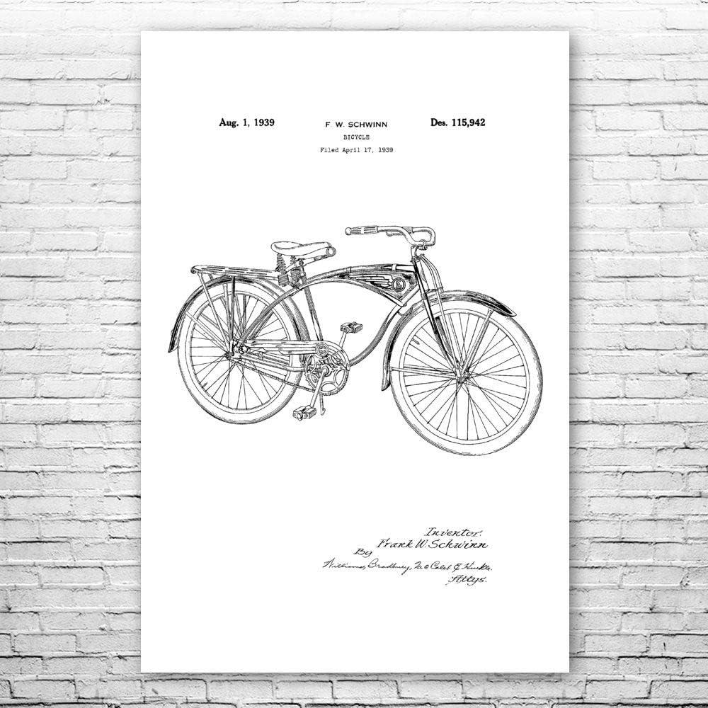 Patent Earth Bicycle Poster 直送商品 専門店 Print Wall Art Cycling Gif