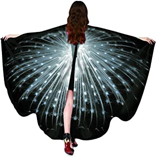Halloween/Party Costumes,Soft Fabric Butterfly Wings for Women,Butterfly Shawl Fairy Ladies Nymph Pixie Costume Accessory