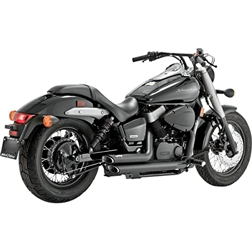 Vance and Hines Shortshots Staggered Black Full System Exhaust for Honda 2009-1 - One