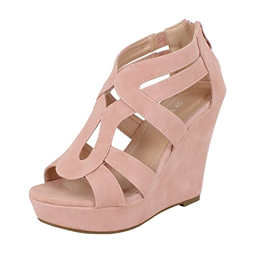 5d57a6cb1edb Women s Strappy Open Toe Platform Wedge
