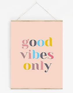 'Good Vibes Only' Inspirational, Positive Wall Art - 8x10 UNFRAMED Modern, On-Trend Art Print - Minimalist, Modern Mid-Century Decor with a Fun, Inspiring Message