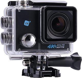 NK Grave Cámara Deportiva subacuática 4K (Ultra-Alta Definición) HD 16MP, (15 Accesorios Múltiples) (Reacondicionado)