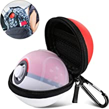 2 in 1 Pokeball Plus Case,Carrying Case Compatible with Nintendo Switch Pokeball Plus Controller,Portable Lets Go Pikachu Eevee Game Travel Pokeball Case Bag for Nitendo Switch Accessories Pokeball