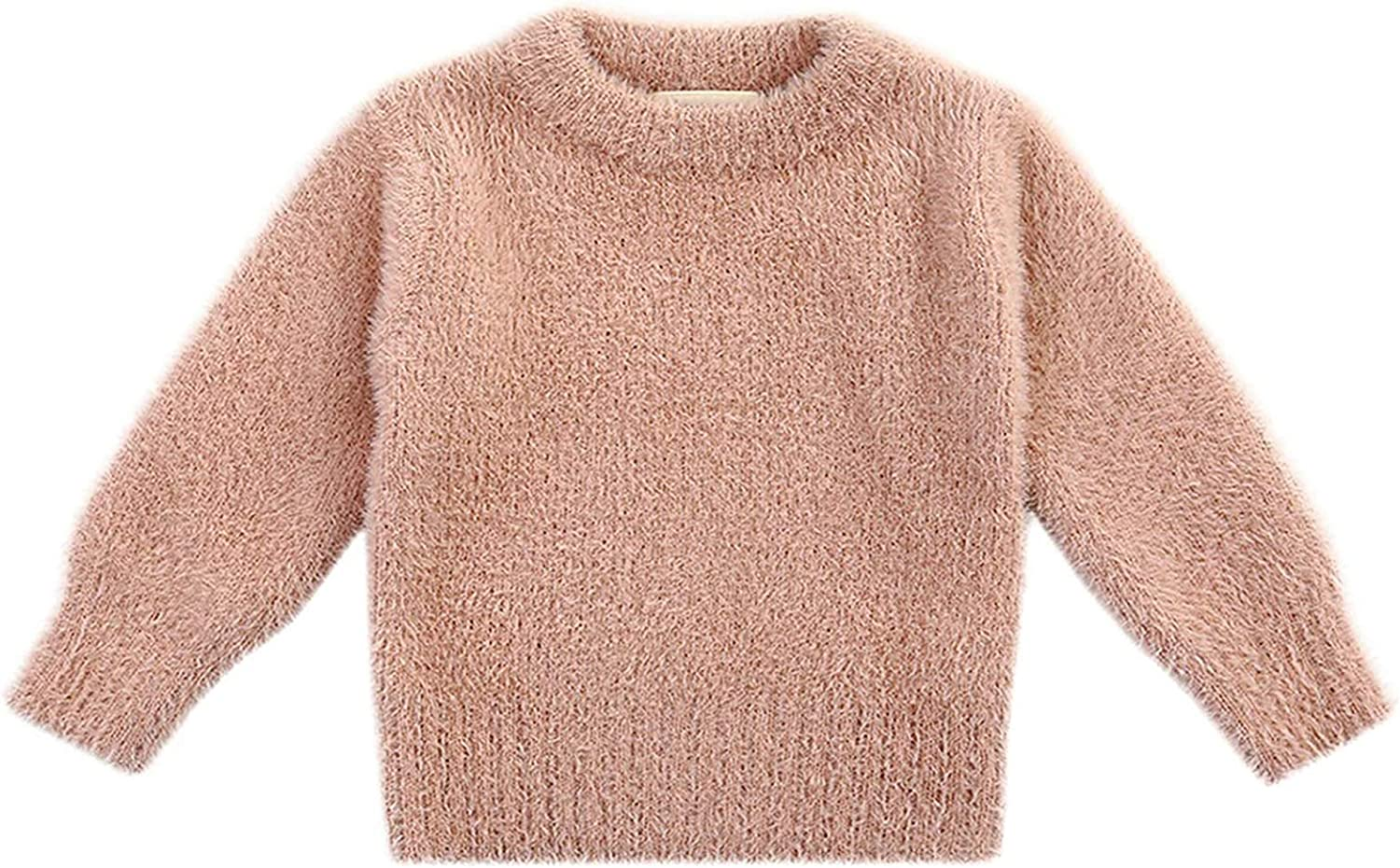 Toddler Baby Girl Fuzzy Sweater Long Cozy Austin Mall 1- Top Sleeve Pullover Los Angeles Mall
