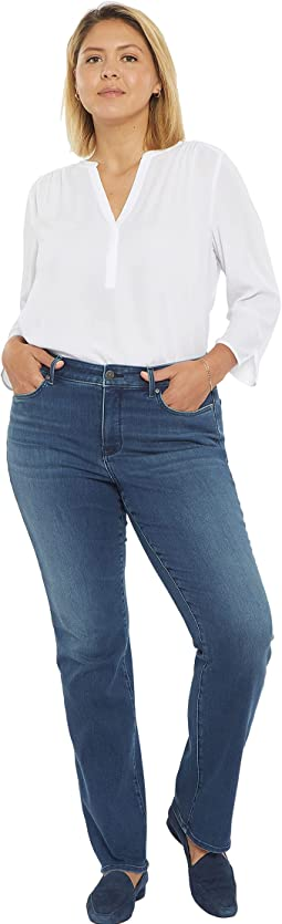 Plus Size Marilyn Straight Jeans in Saybrook