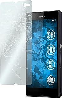 PhoneNatic 2 x Película Protectora de Vidrio Templado Claro Compatible con Sony Xperia Z Películas Protectoras