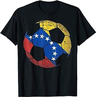 Venezuela Soccer Ball Flag Jersey Venezuelan Football T-Shirt